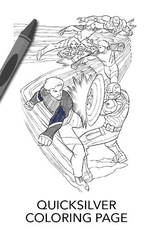 Avengers Quicksilver Coloring Page | Disney Movies