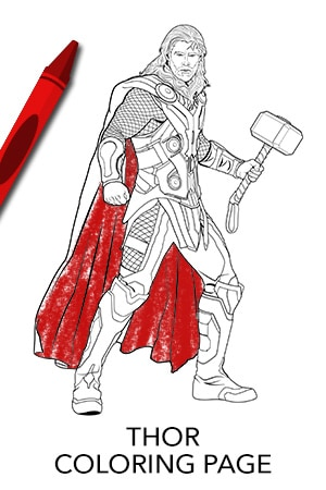 avengers thor coloring page disney movies