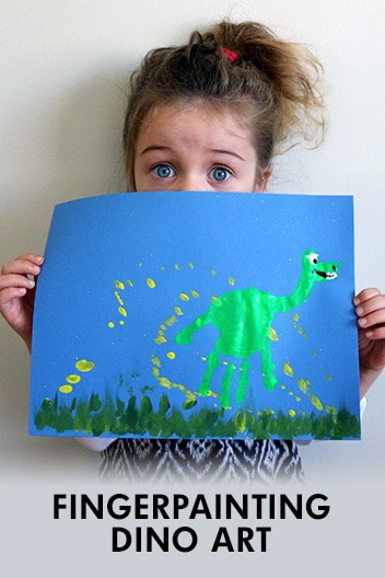 Finger Painting Dino Art