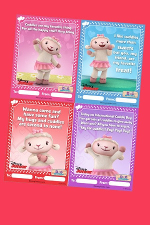 Cuddle Me Lambie Valentine's Day Cards