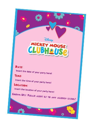 ValentineS Day  Invites  Disney Junior