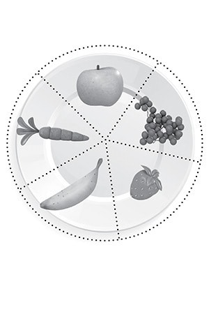Healthy Snacks Puzzle Plate