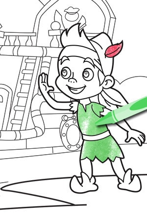 """""""It's a Winter Never Land"""" Coloring Page"""