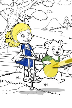 SEA - Goldie & Bear - Colouring Page
