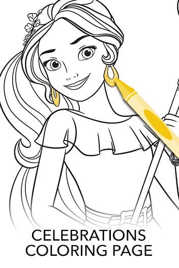 Elena of Avalor: Celebrations to Remember - Coloring Page