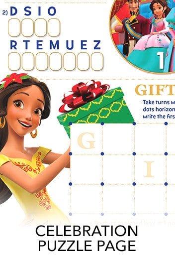 Elena of Avalor: Celebrations to Remember - Puzzle Page