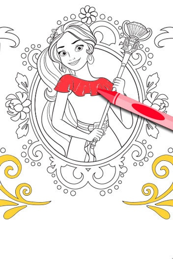 Elena of Avalor - Elena Coloring Page