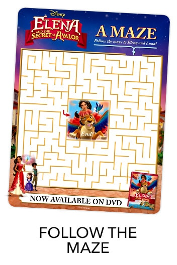 Elena of Avalor Maze