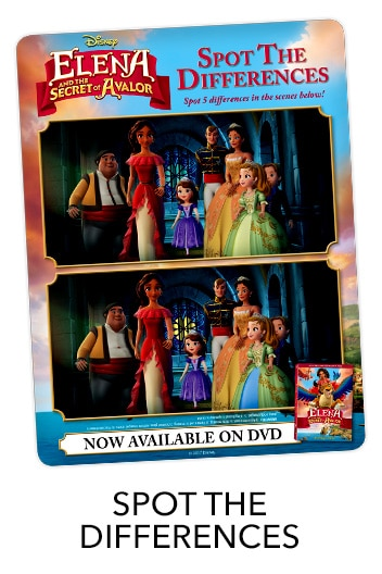 Elena of Avalor Spot the Difference