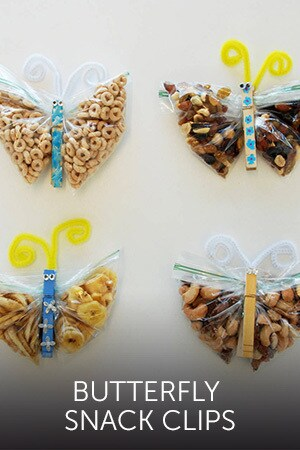 Cinderella's Butterfly Snack Clips