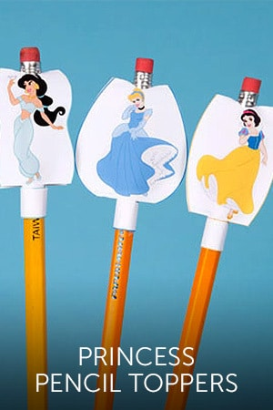 Princess Pencil Toppers