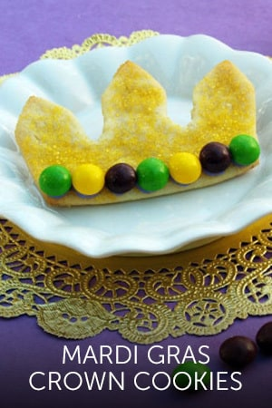 Big Daddy's Mardi Gras Crown Cookies