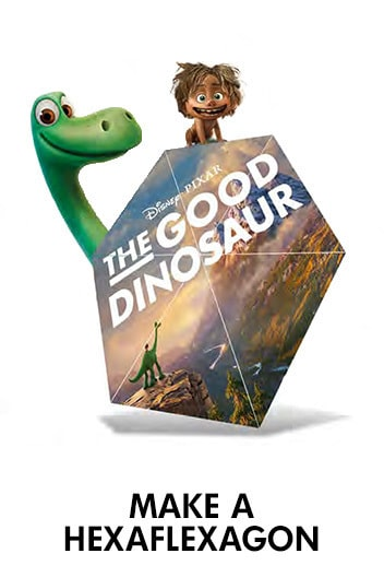 The Good Dinosaur- Hexaflexagon