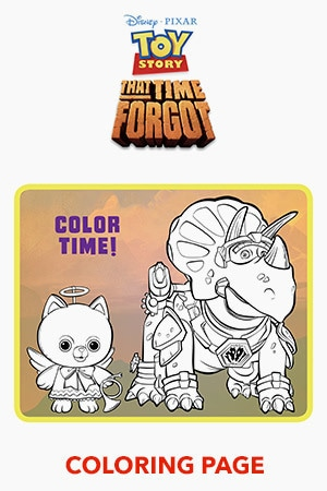 Toy Story That Time Forgot Coloring Page