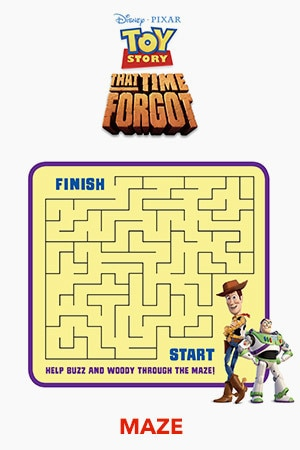 Toy Story That Time Forgot Maze