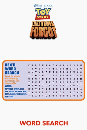 Toy Story That Time Forgot Word Search