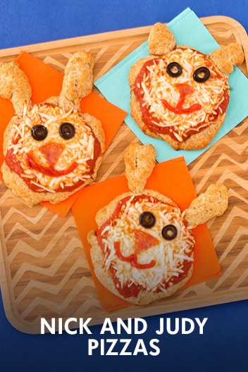 Zootopia Nick and Judy Pizzas