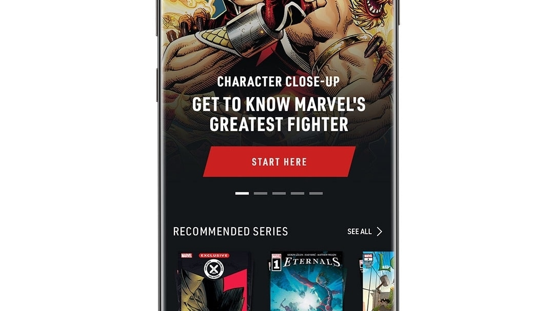 Home Shang-Chi App Screen Image on White Background