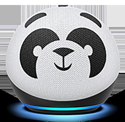 Amazon Echo Dot Kids Edition panda image.