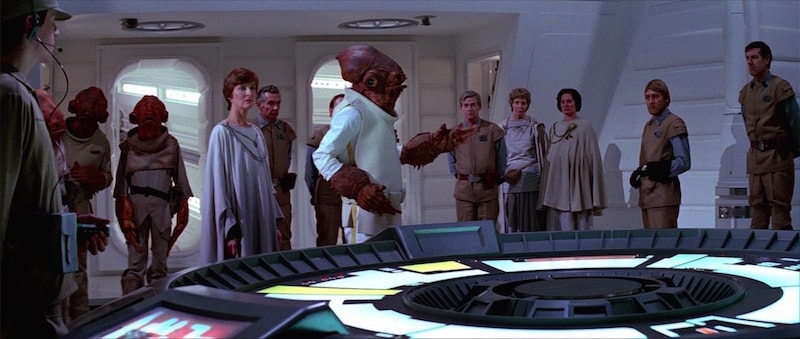 Ackbar leading the Alliance Starfleet