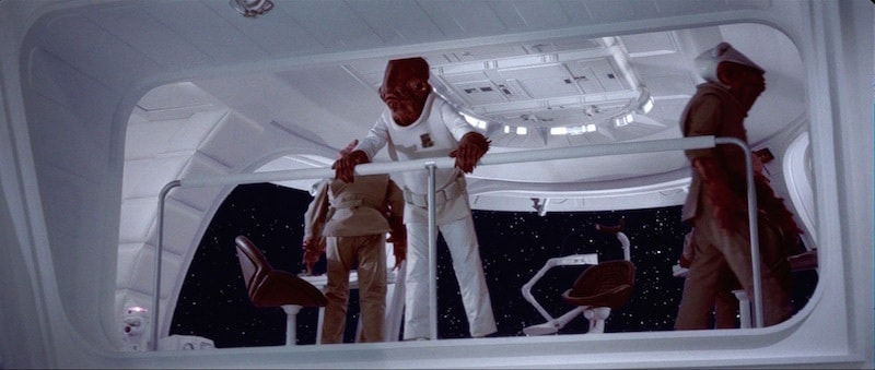 Ackbar oversees the rebel attack
