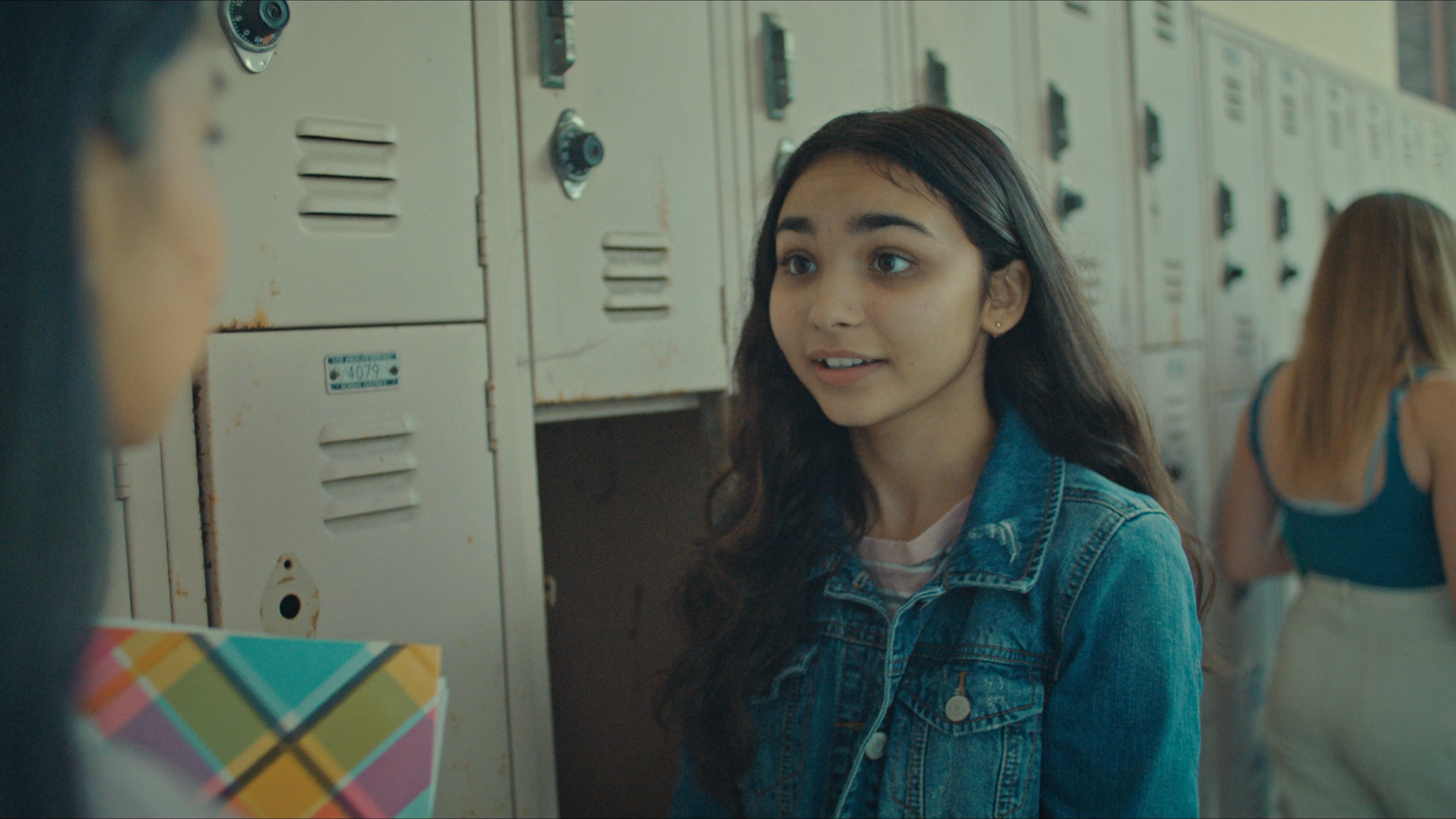 "(R): Jenna Qureshi as Zainab in Disney's ""LAUNCHPAD"" Season One short, ""AMERICAN EID,"" Written and Directed byAqsa Altaf.Photo courtesy of Disney. © 2021 Disney Enterprises, Inc. All Rights Reserved."