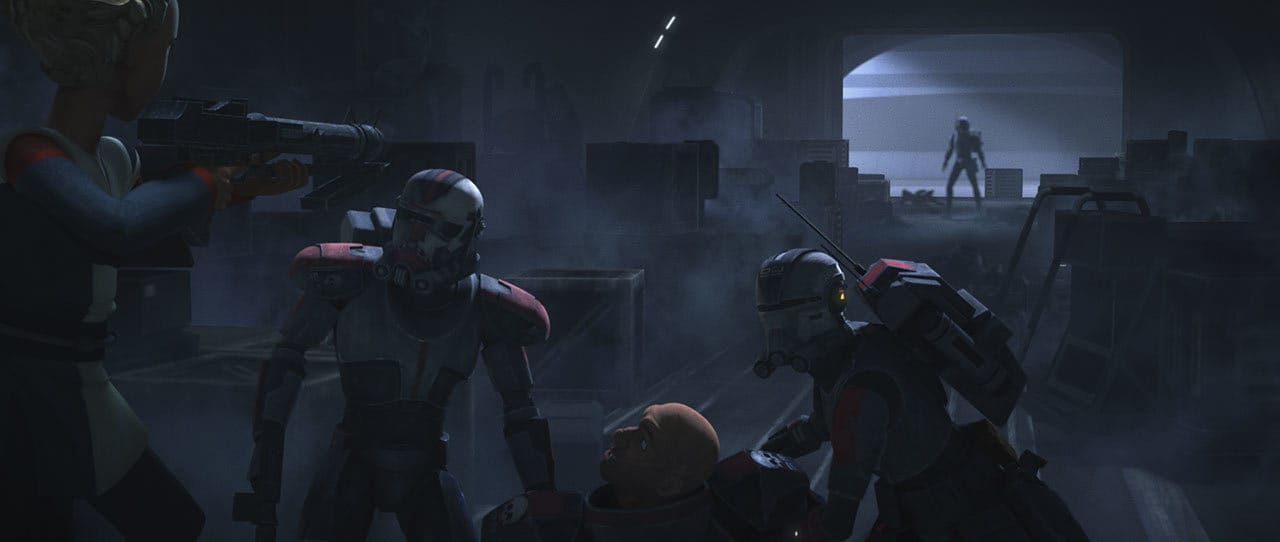 The Bad Batch escaping Kamino