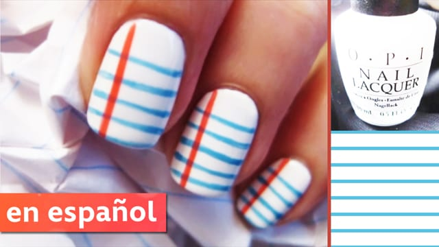 Uñas con estilo escolar (Sassy School Nails)