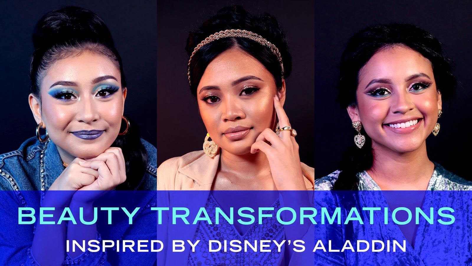 3 Girls, 3 Beauty Looks Inspired By Disney's Aladdin