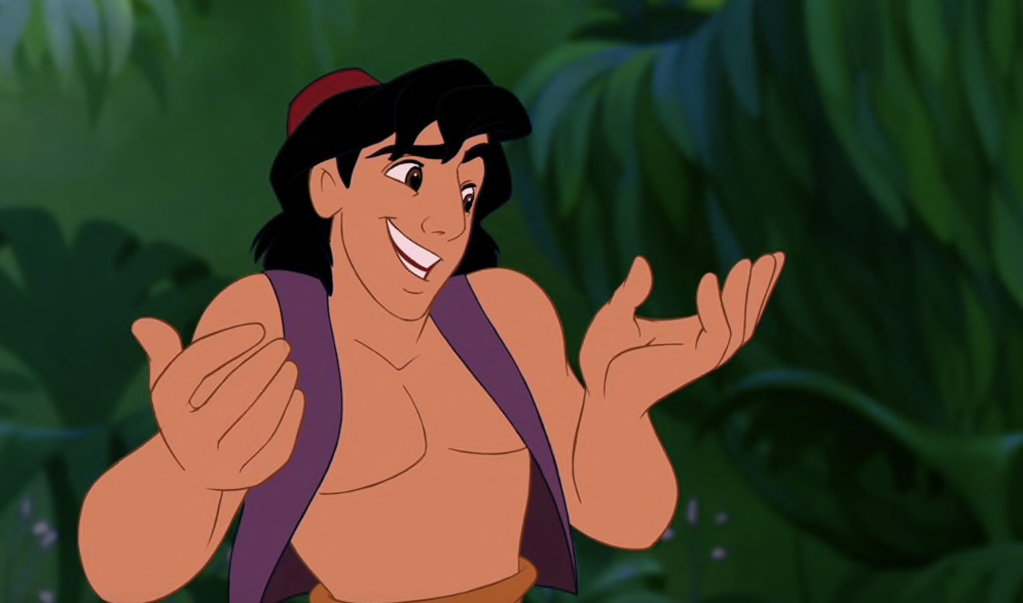 Aladdin Shrugging