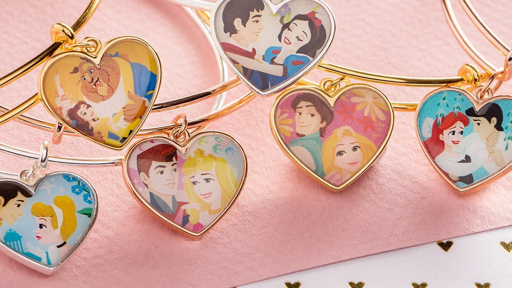 Adorn Your Arms with ALEX AND ANI Bangles Featuring Disney Princess Couples this Valentine's Day