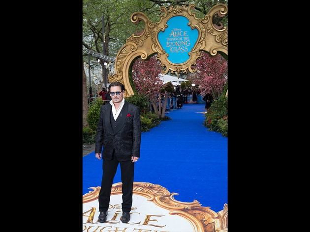 Johnny Depp on the blue carpet