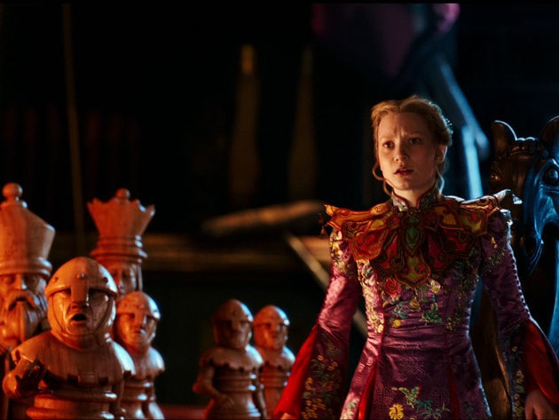 Alice (Mia Wasikowska) returns to the whimsical world of Underland