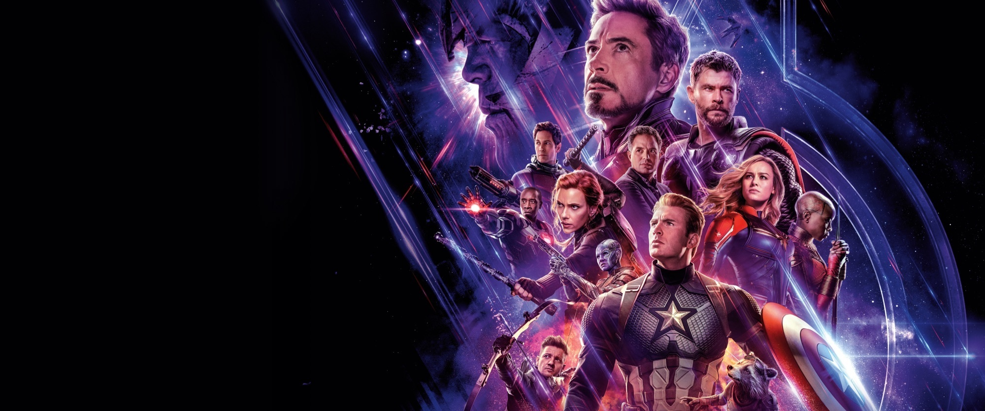 Avengers: Endgame Showcase Homepage