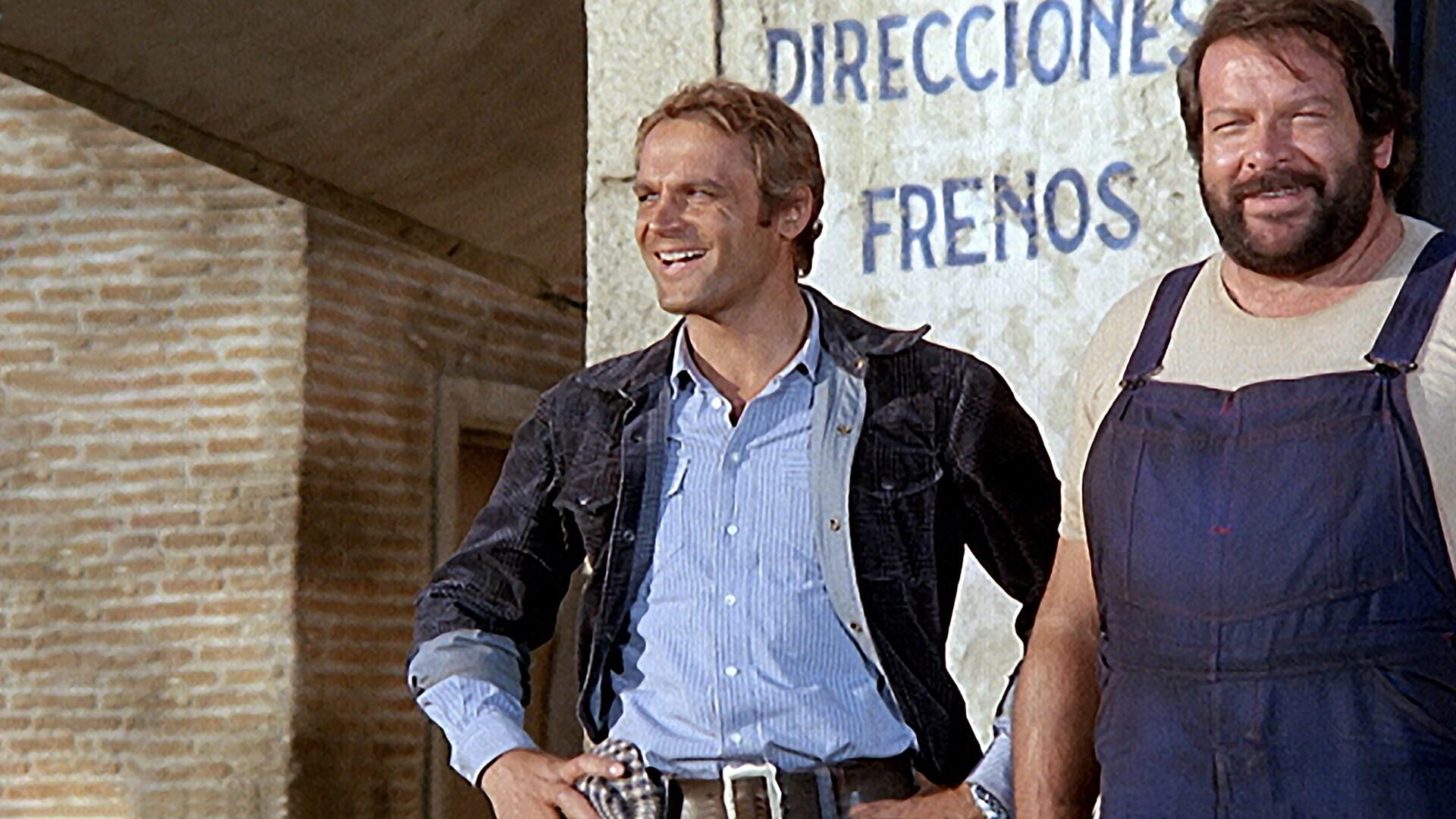 """Una immagine dal film """"...Altrimenti ci arrabbiamo"""" con Bud Spencer e Terence Hill"""