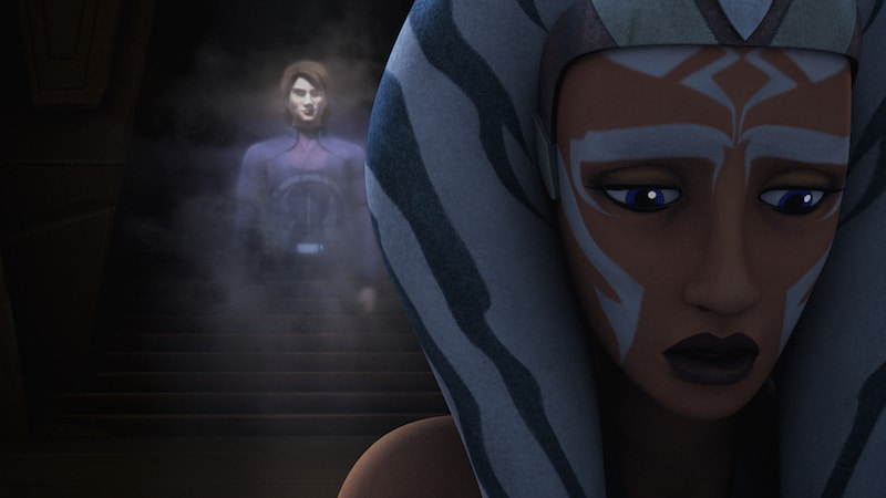 Ahsoka has a vision of Anakin