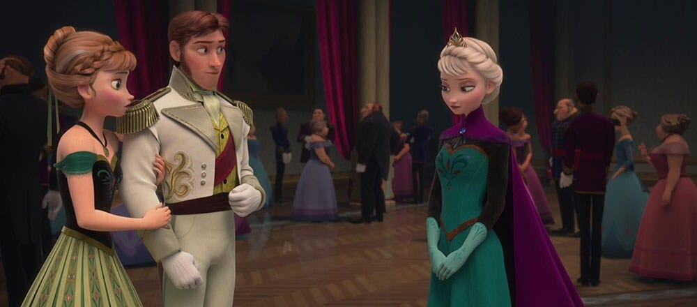 "Animated characters Anna, Hans and Elsa from the film ""Frozen"""