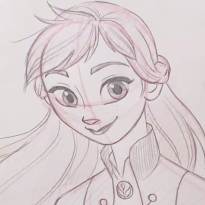 Learn to Draw Anna From Frozen 2!