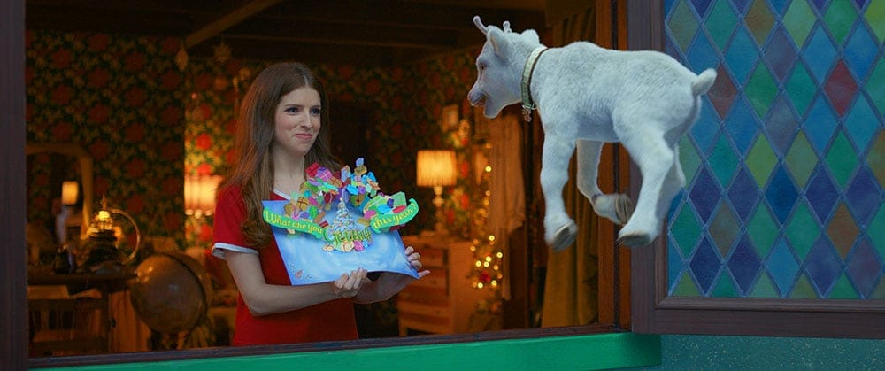 Anna and baby reindeer