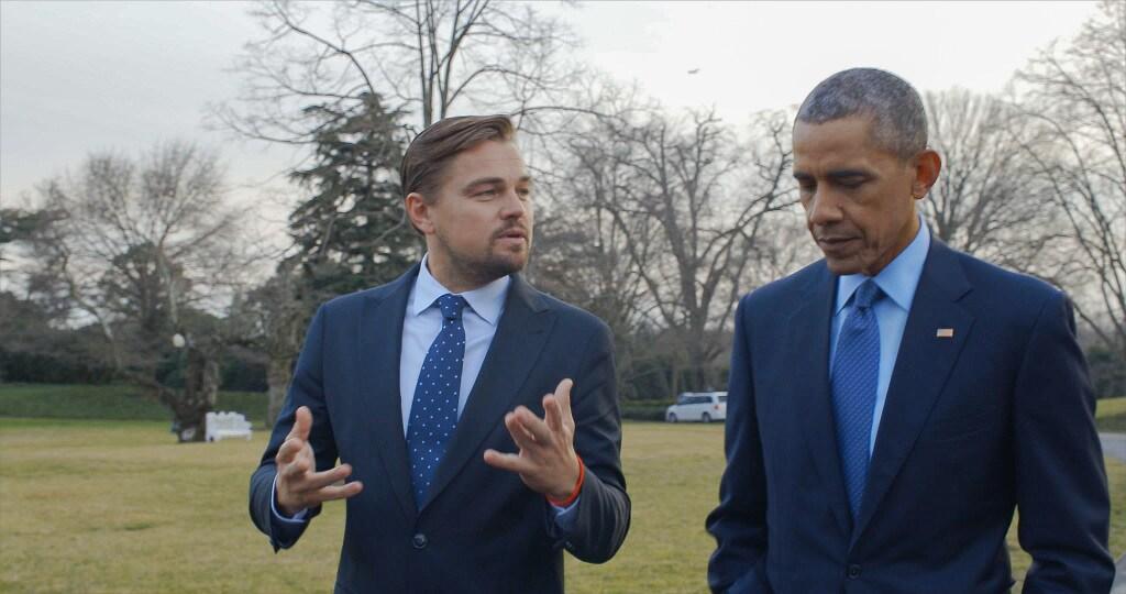 DiCaprio e Obama conversam