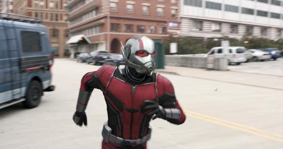 Ant-Man Running in Ant-Man and the Wasp