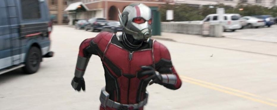 Ant Man Running in Ant-Man and the Wasp