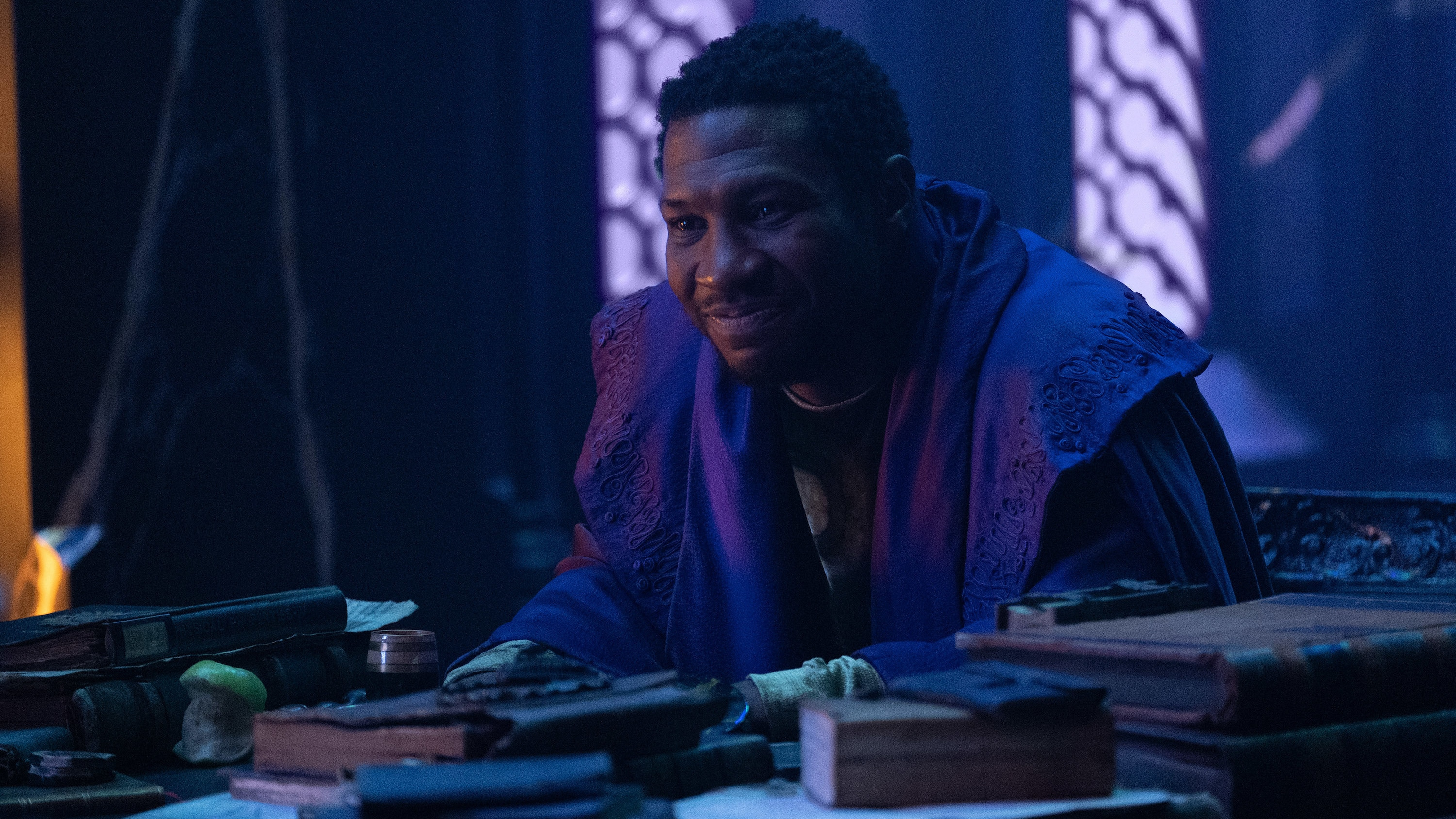 He Who Remains (Jonathan Majors) in Marvel Studios' LOKI, exclusively on Disney+. Photo by Chuck Zlotnick. ©Marvel Studios 2021. All Rights Reserved.