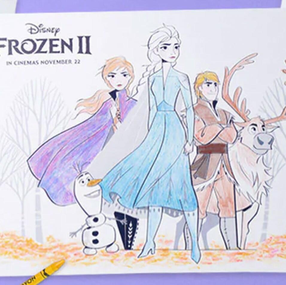 Si Kecil Pasti Akan Menyukai Lembar Aktivitas Disney's Frozen 2 Ini!