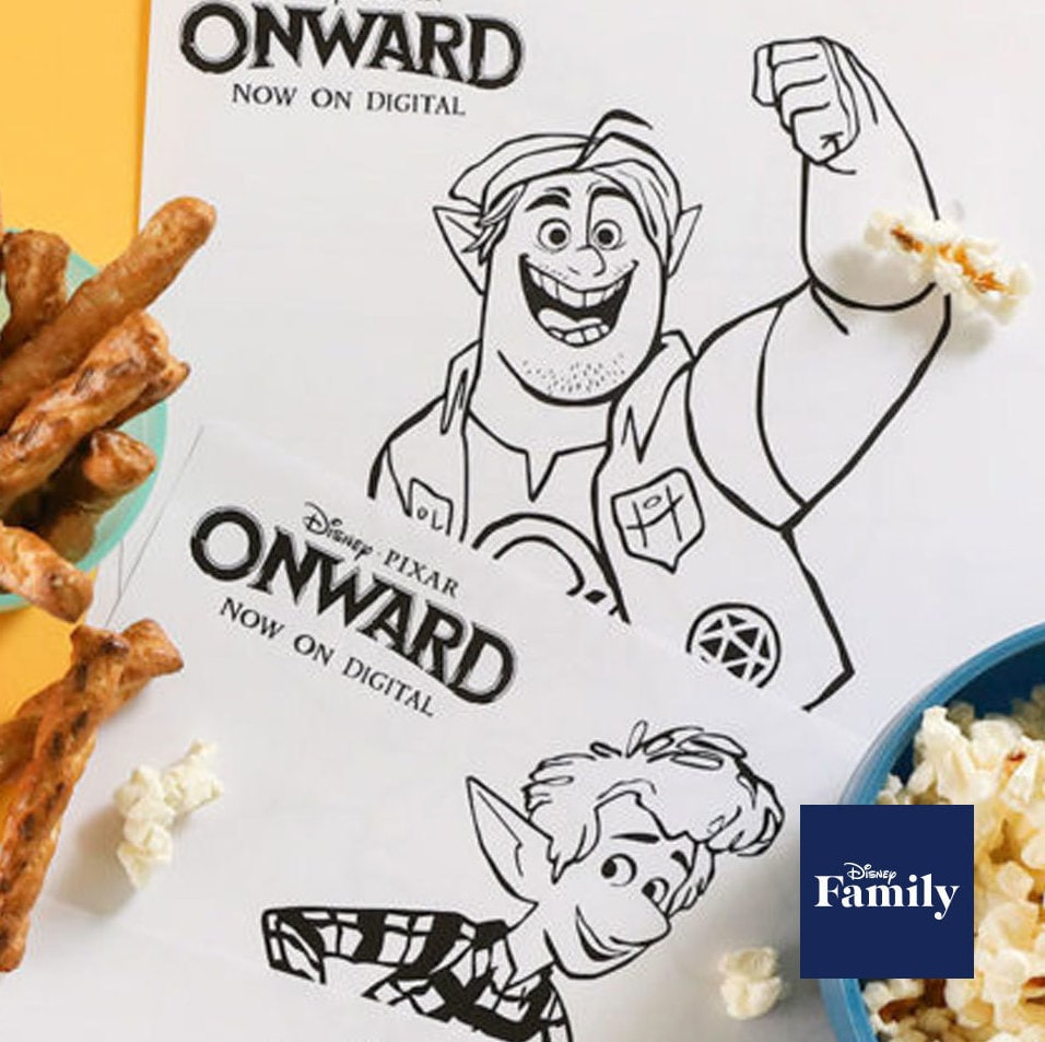 Disney And Pixar's Onward Colouring Pages, Games and Activities You Can Print Right Now