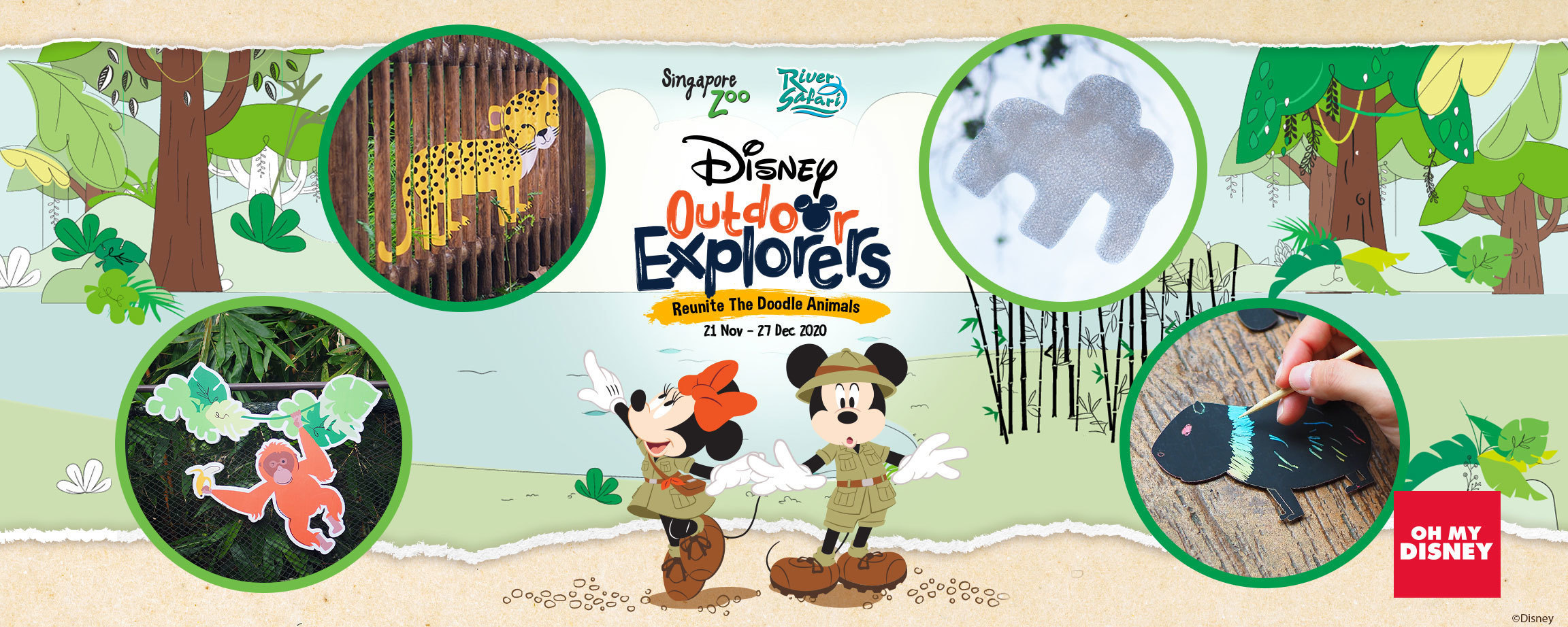 Disney's Outdoor Explorers - Reunite The Doodle Animals