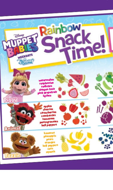 Rainbow Snack Time