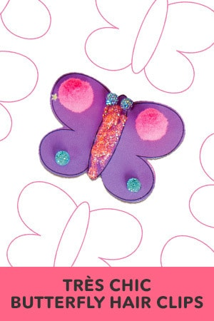 Tres Chic Butterfly Hair Clips
