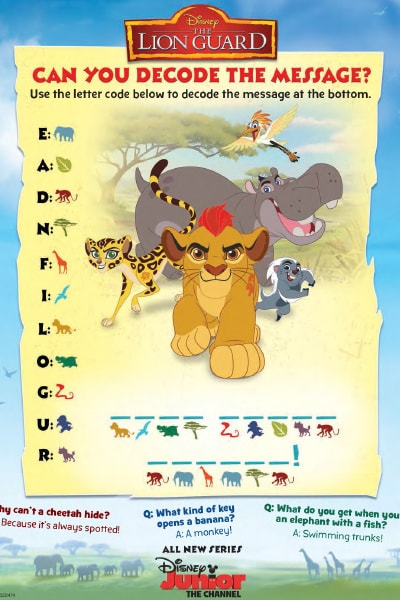 The Lion Guard Decode Message
