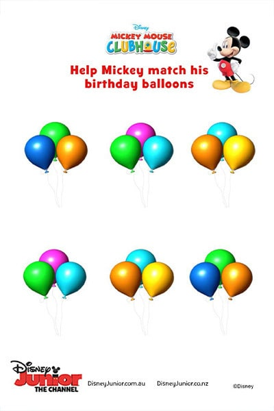 Mickey's Birthday Balloons